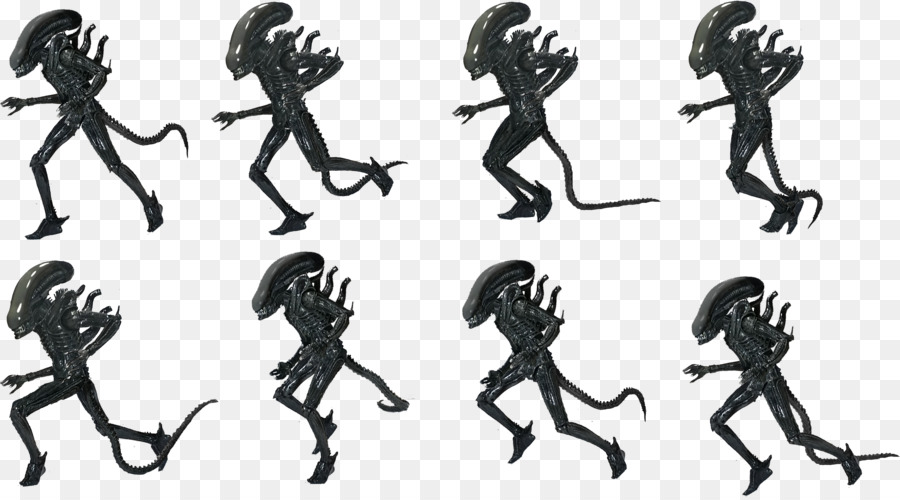 Black an white clipart of predator alien svg royalty free Aliens Cartoon png download - 3335*1842 - Free Transparent Alien png ... svg royalty free
