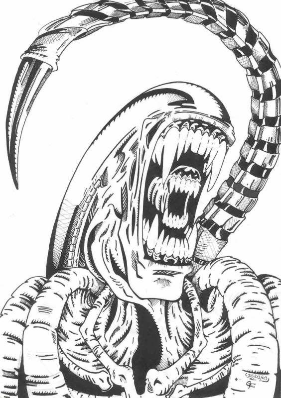 Black an white clipart of predator alien clipart black and white Artwork - AvP Universe   The Predator in 2019   Alien art, Predator ... clipart black and white