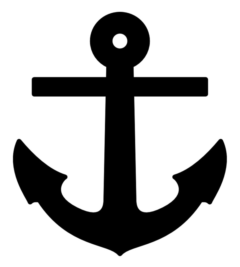 Black anchor clipart vector black and white stock Anchor Clipart Black And White | Free download best Anchor Clipart ... vector black and white stock