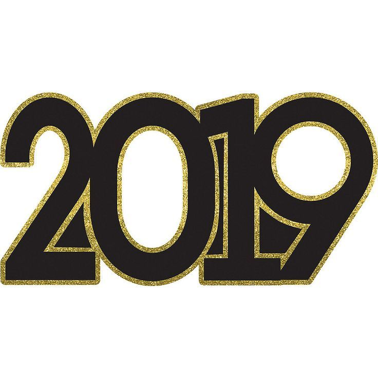 Black and gold 2019 clipart picture Giant Black & Gold 2019 Photo Booth Prop 39×19 1/2 inches ... picture