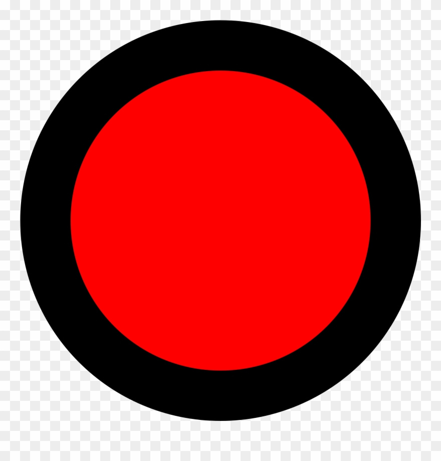 Red Dot Png Clip Art Black And White - Circle Transparent Png ... clip transparent download