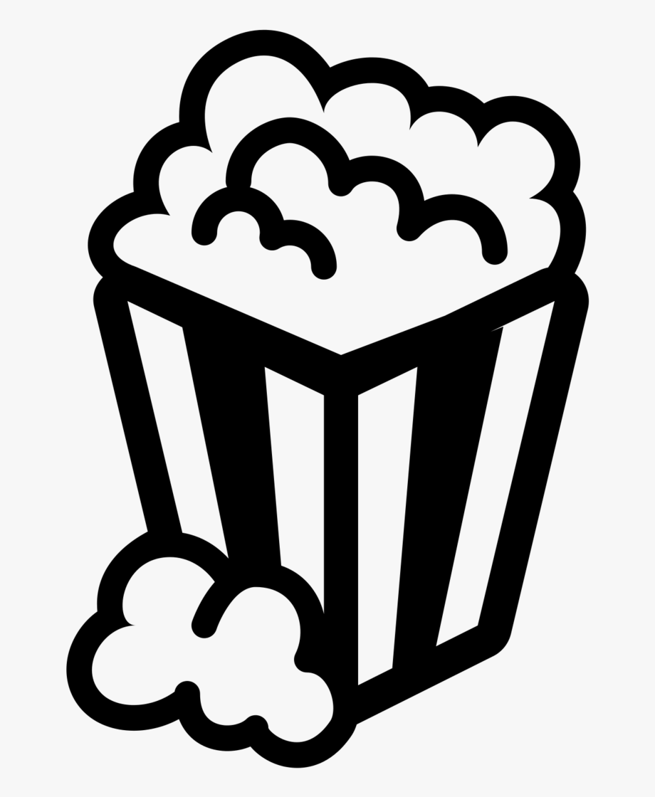 Black and whit clipart clip art freeuse Clip Art Black White Popcorn - Ymca Family Movie Night #1333035 ... clip art freeuse