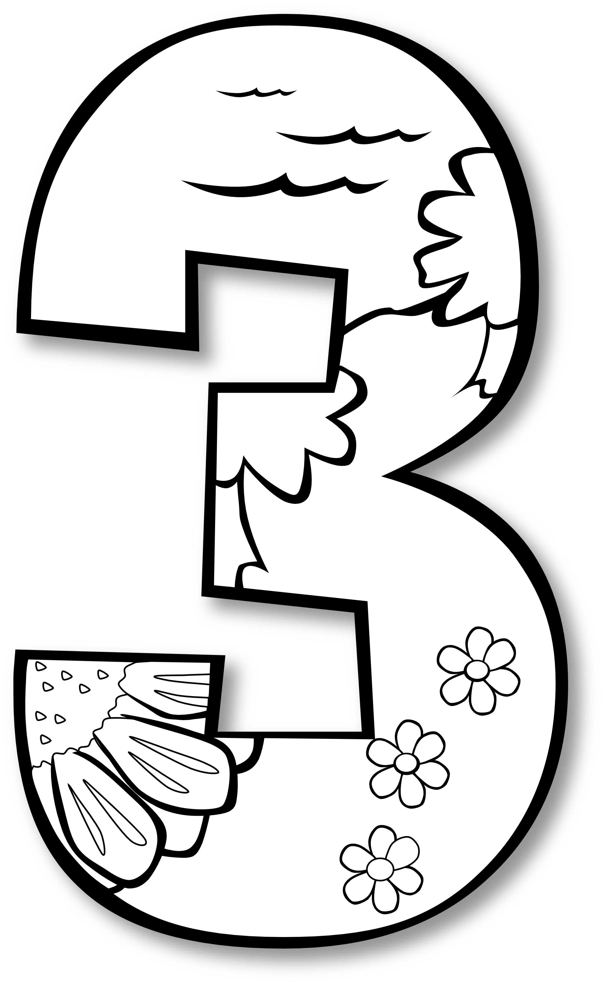 Number clipart black and white clipart stock 3 Number Ge 1 Black White | Clipart Panda - Free Clipart Images clipart stock