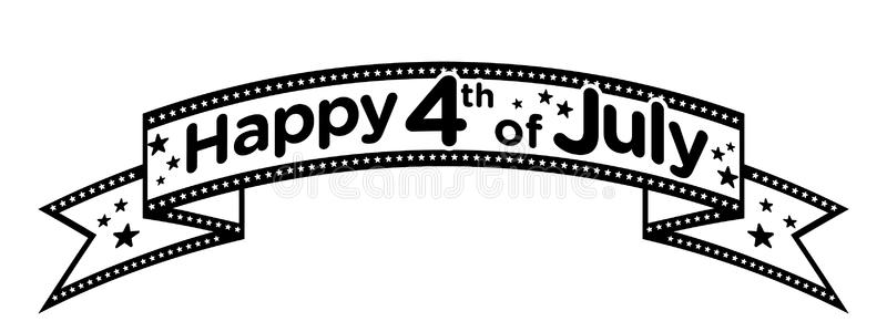 Black and white 4th of july clipart banner freeuse stock Fourth of july clipart black and white 3 » Clipart Station banner freeuse stock
