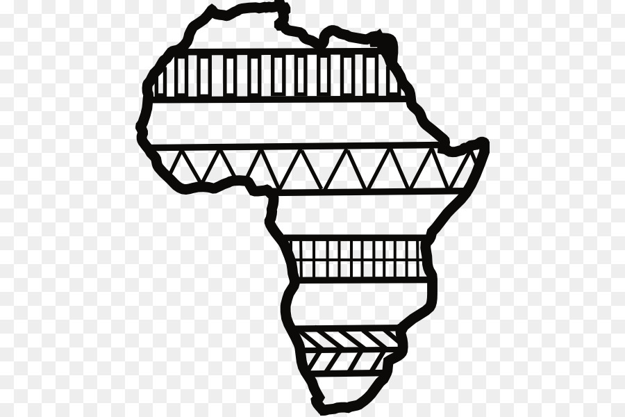 Black and white african clipart