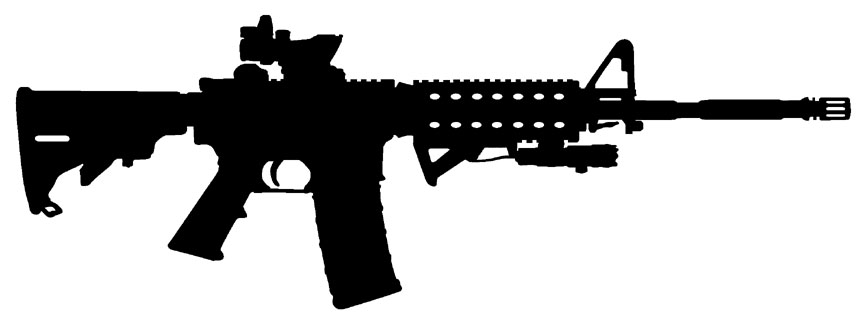 Free AR-15 Cliparts, Download Free Clip Art, Free Clip Art on ... black and white library