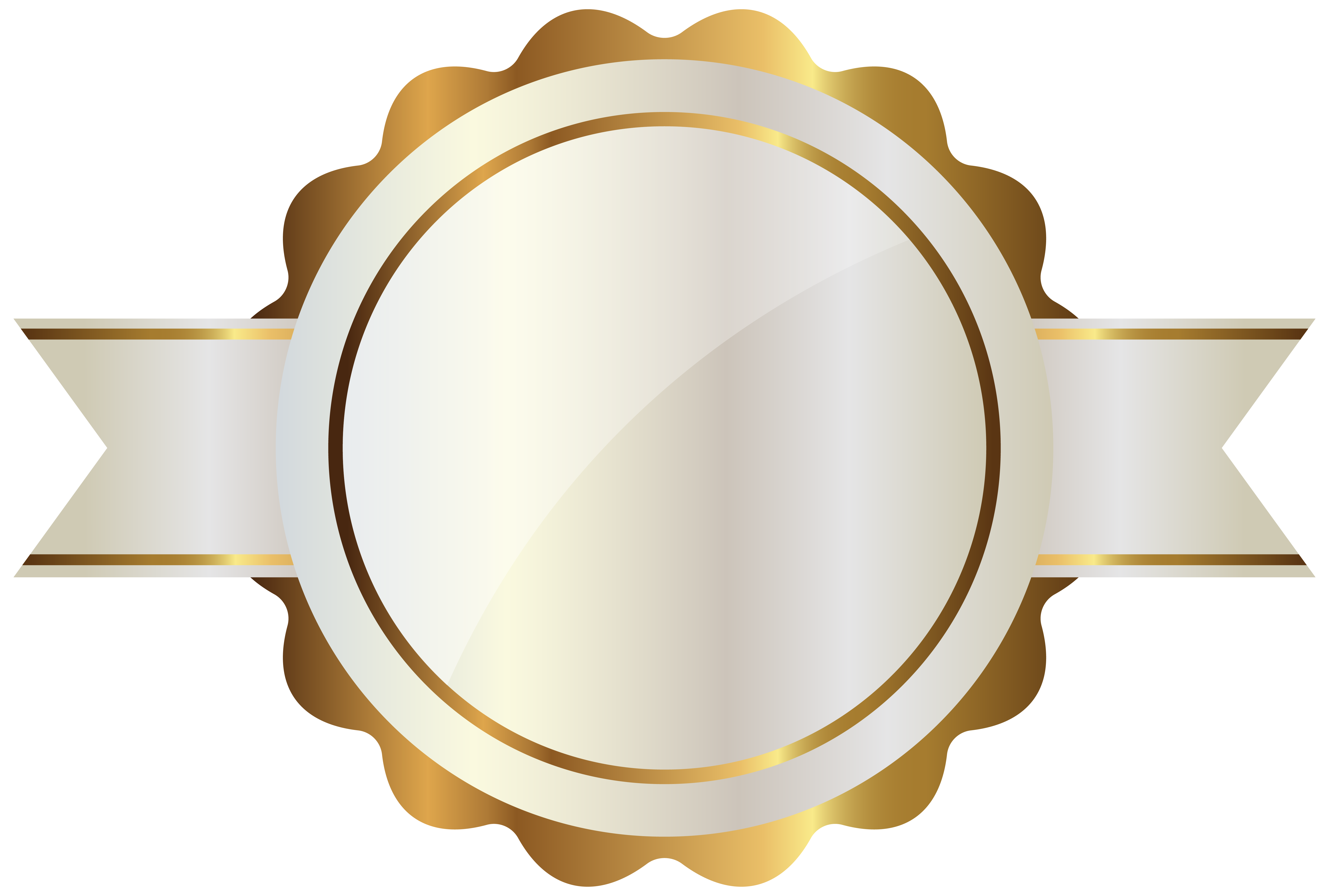 Crown with a rounded bottom clipart vector library download White Label with Gold PNG Clipart Image | баннер | Pinterest ... vector library download