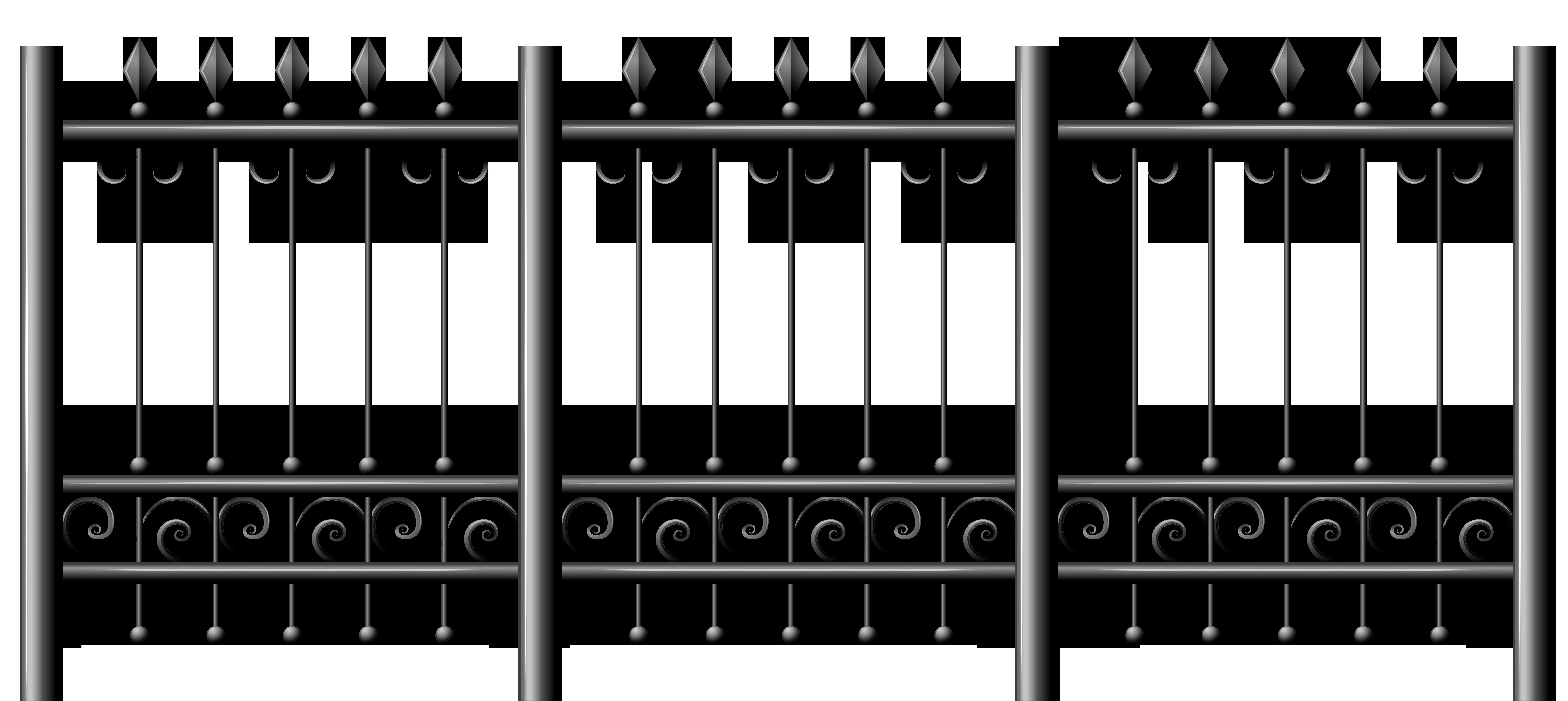 Transparent Iron Fence PNG Clipart | ClipArt | Pinterest | Fences ... vector transparent stock