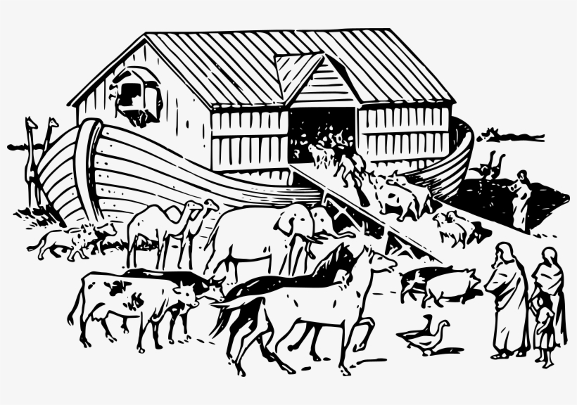 Black and white ark clipart jpg royalty free library Medium Image - Noah\'s Ark Clipart Black And White Transparent PNG ... jpg royalty free library