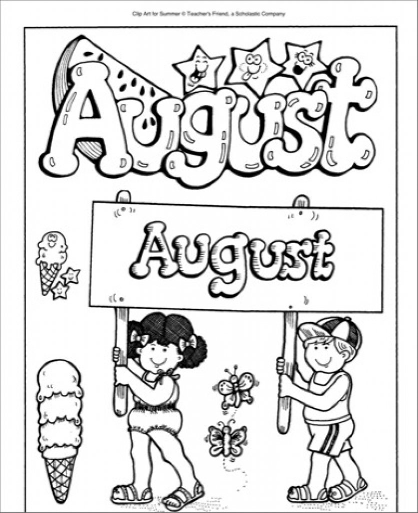 August clipart black and white back to school clip art - ClipartPost jpg black and white stock