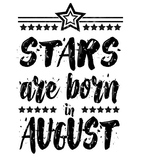 \'Stars Are Born In August - Black & White\' Poster by Miguel Andrade clipart free stock