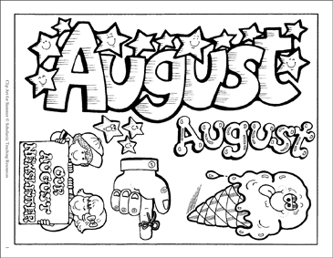 August/Our August Newsletter Clip Art | Printable Clip Art and Images image free