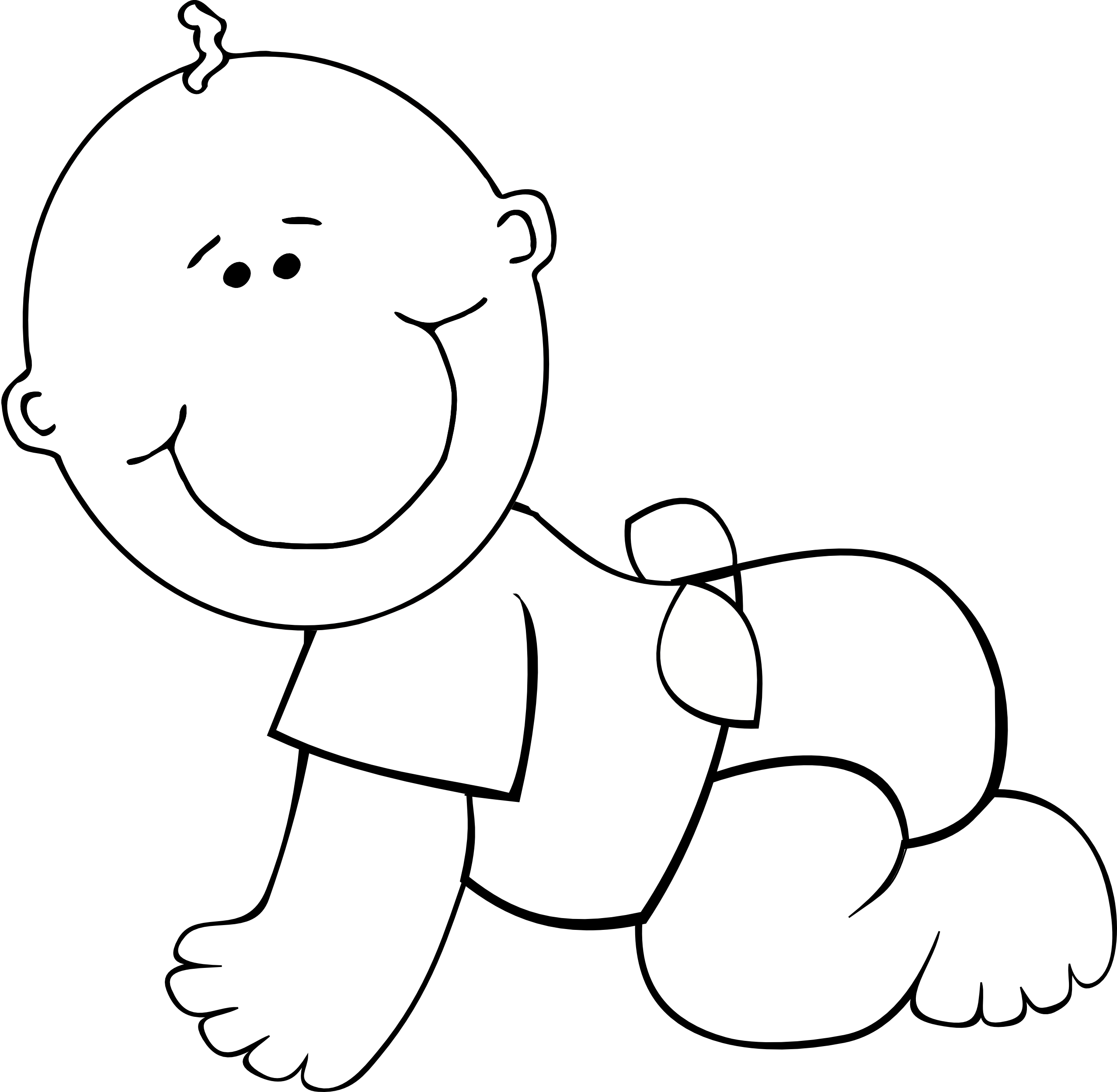 Black and white baby boy with crown clipart clip black and white stock 28+ Collection of Black And White Baby Clipart | High quality, free ... clip black and white stock