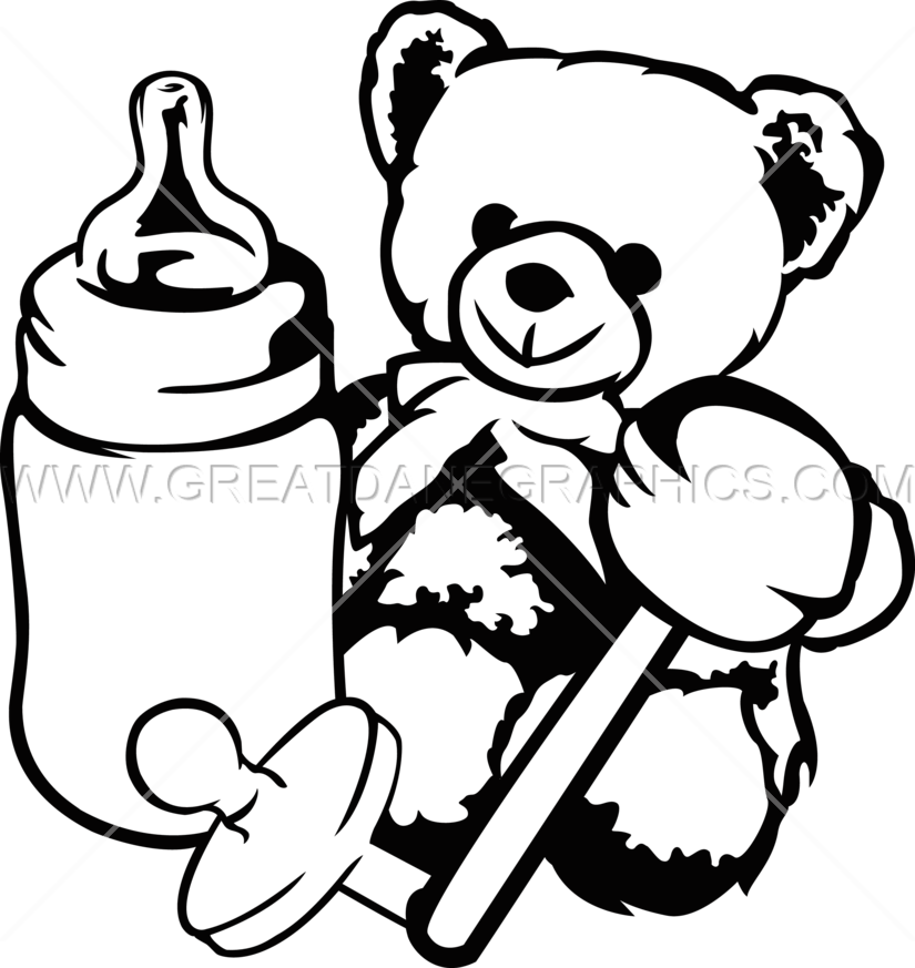 Black and white baby boy with crown clipart clipart library download 28+ Collection of Baby Toys Clipart Black And White | High quality ... clipart library download