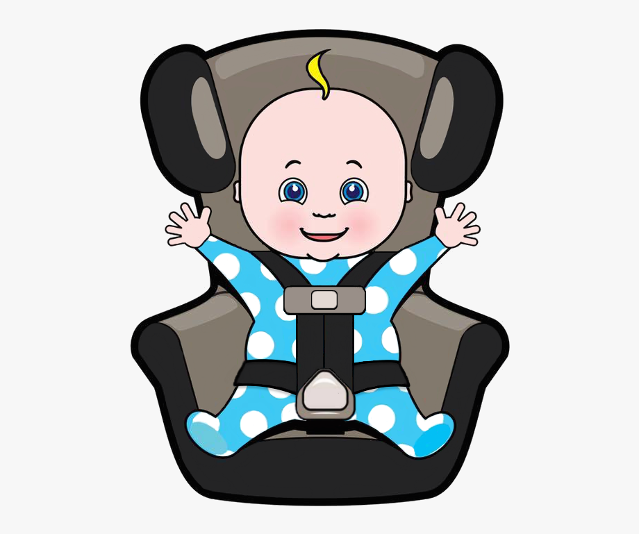 Black and white baby carseat clipart graphic library library Car Seat Safety Your Whole Baby Clip - Baby In Car Seat Cartoon ... graphic library library