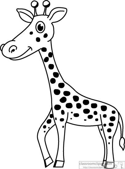 Giraffe outline clipart black and white free jpg library library Giraffe Black And White Clipart | Free download best Giraffe Black ... jpg library library