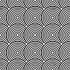 Black and white clipart backgrounds picture freeuse download Black-and-white background with circles - vector clip art picture freeuse download