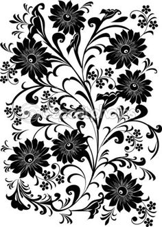 129 Best BLACK AND WHITE FLOWERS BACKGROUND images in 2016   Black ... royalty free library