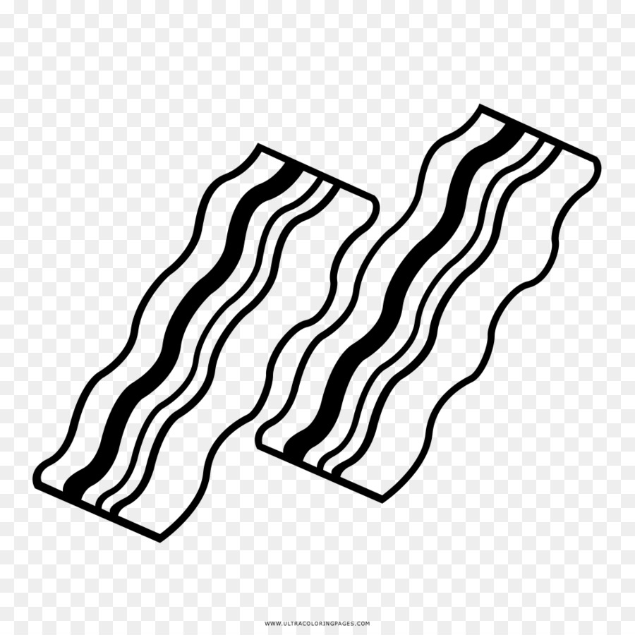 Black and white bacon clipart clip freeuse library Black Line Background clipart - Bacon, Drawing, White, transparent ... clip freeuse library