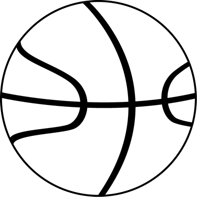 Black and white ball clipart my cute graphics royalty free library Black and White Basketball Ball Clip Art - Black and White ... royalty free library