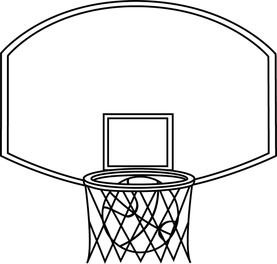 Black and white ball clipart my cute graphics graphic free download Black and White Basketball Backboard and Ball Clip Art - Black and ... graphic free download