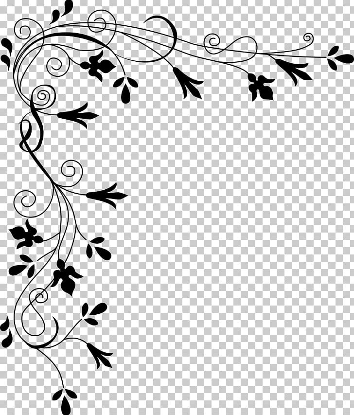 Black and white band plant clipart png image freeuse download Flower Black And White PNG, Clipart, Angle, Area, Art, Art Corner ... image freeuse download