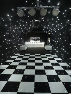 Black and white banquet room themes clipart