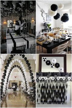 Black and white banquet room themes clipart vector free 34 Best Black And White Party Decorations images in 2017 | Party ... vector free
