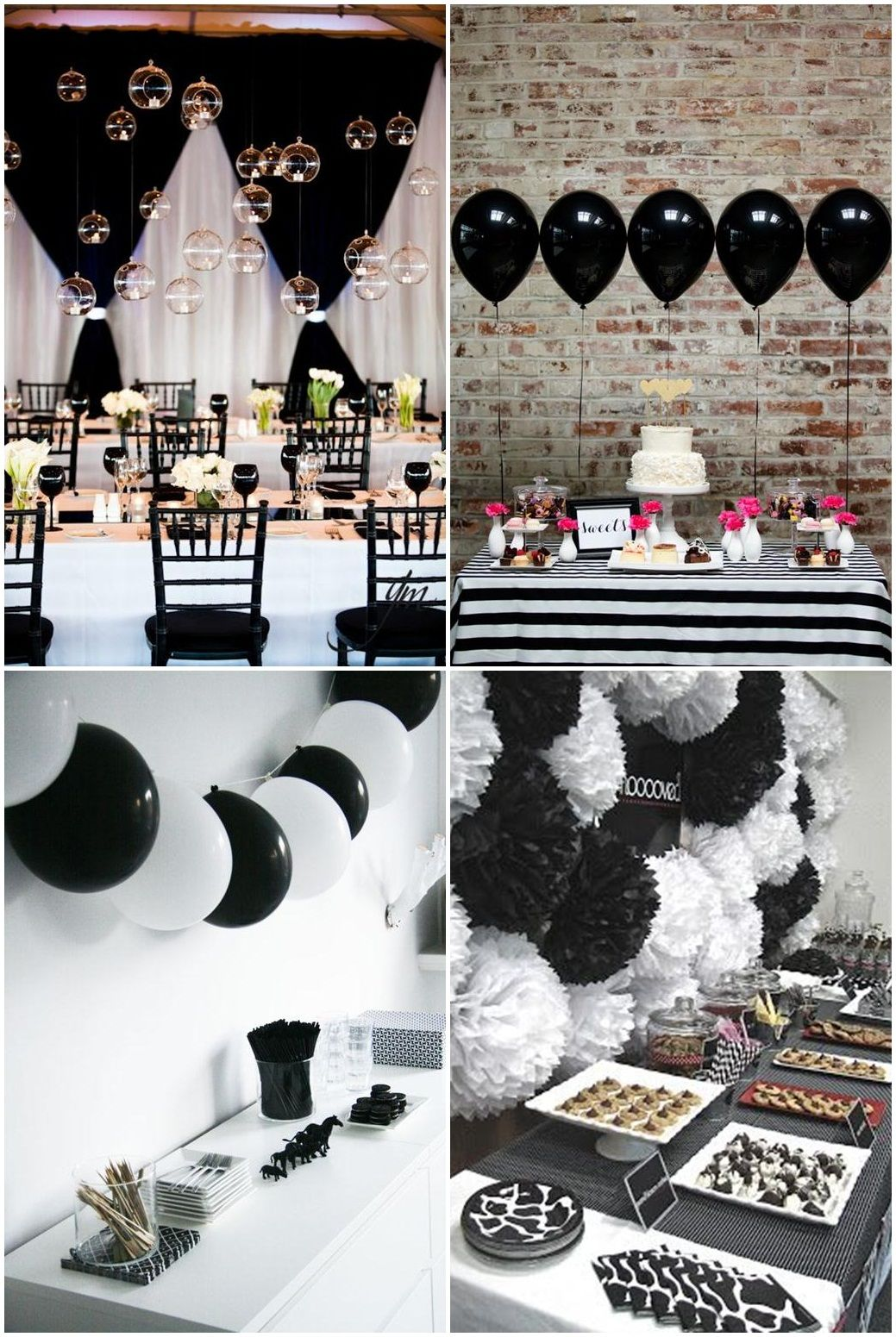 Black and white banquet room themes clipart clip library library Simple Black And White Party Ideas … | julia | Black… clip library library
