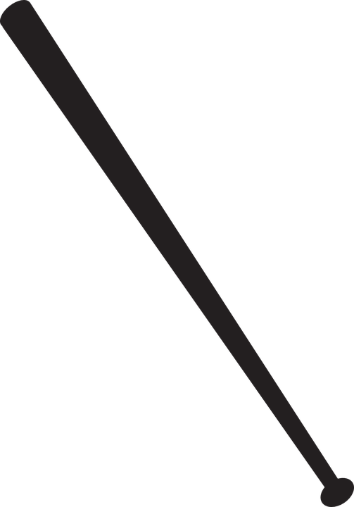 Grunge baseball bat clipart vector transparent stock Collection of Crossed Baseball Bats Clipart | Buy any image and use ... vector transparent stock