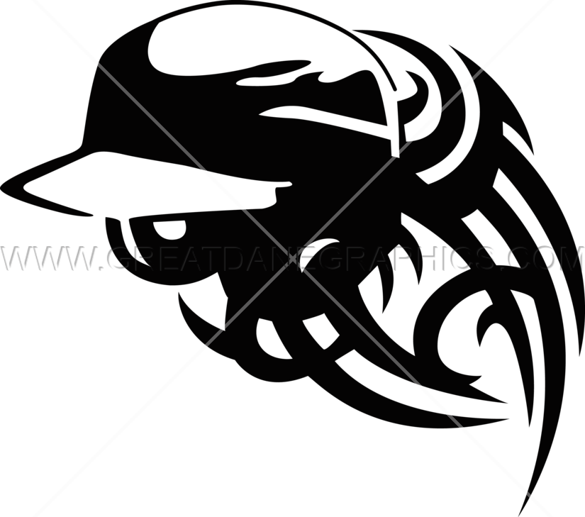 Baseball Helmet Tribal Stylized | Production Ready Artwork for T ... png free library