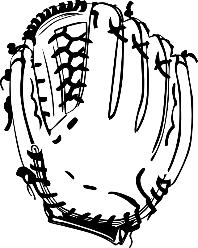 Black and white baseball helmet clipart image free stock Mitt Baseball   Free Stock Photo   Illustration of a baseball mitt ... image free stock