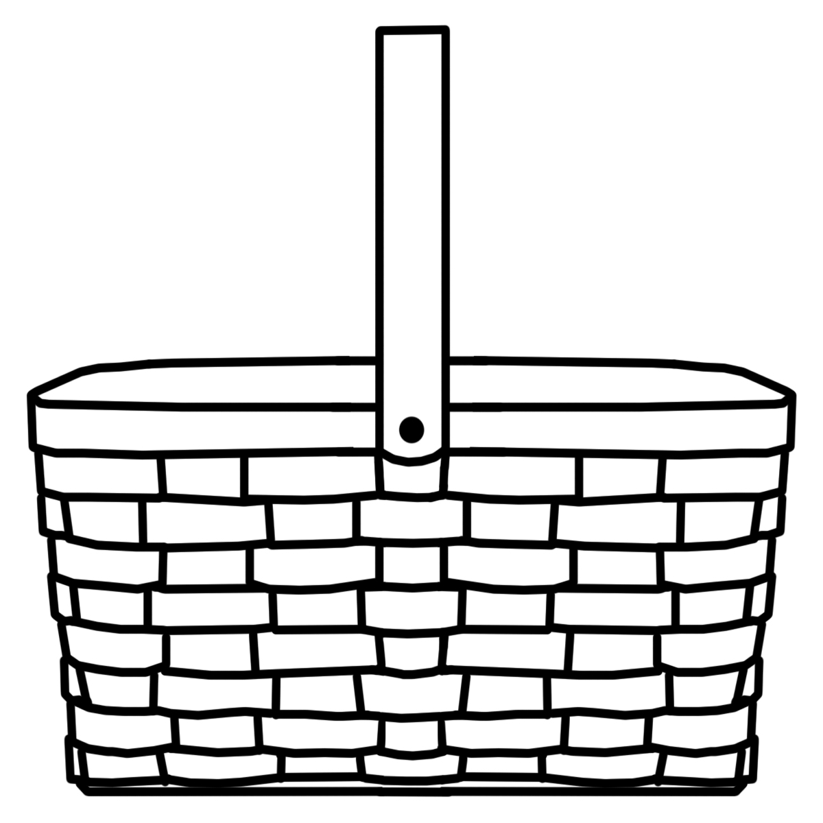 Empty fruit basket clipart black and white graphic free download Basket Clipart Black And White | Free download best Basket Clipart ... graphic free download