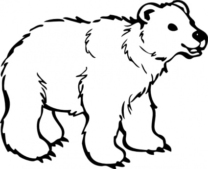 Black and white bear clipart graphic free stock Polar bear clip art black and white free clipart 5 - Cliparting.com graphic free stock