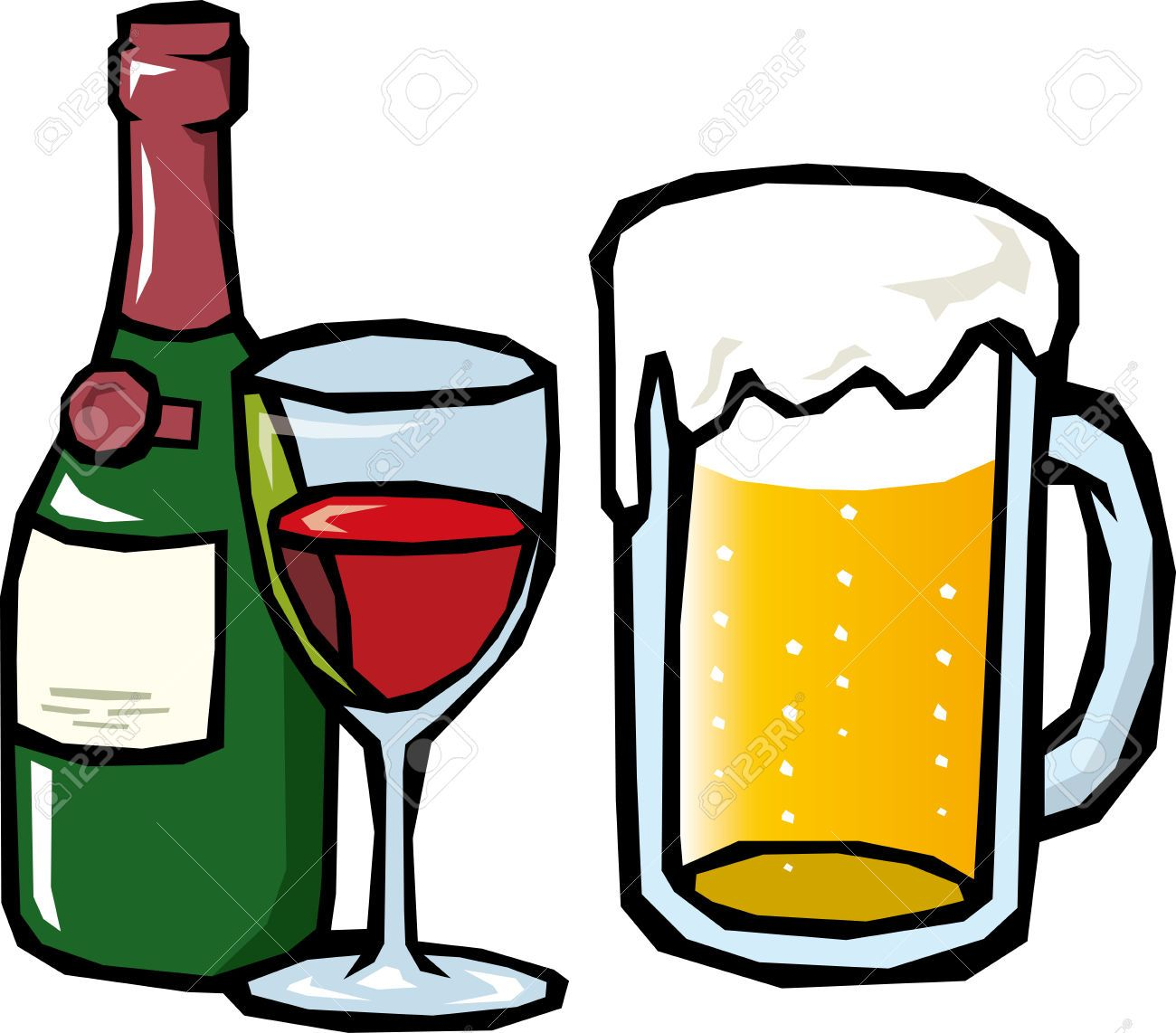 Free clipart images one beer mug red graphic library download Beer clip art black and white free clipart images 3 | Food and drink ... graphic library download