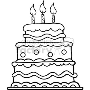 Black and white birthday cakes clipart png royalty free stock black-white-birthday-cake clipart. Royalty-free clipart # 384331 png royalty free stock