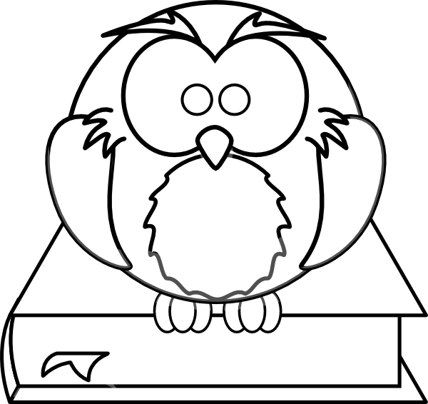 Black and white clipart of a book clipart freeuse download Owl On Book Black And White Clip Art at Clker.com - vector clip art ... clipart freeuse download