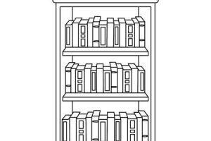 Black and white bookcase clipart clip free Bookcase clipart black and white 2 » Clipart Portal clip free