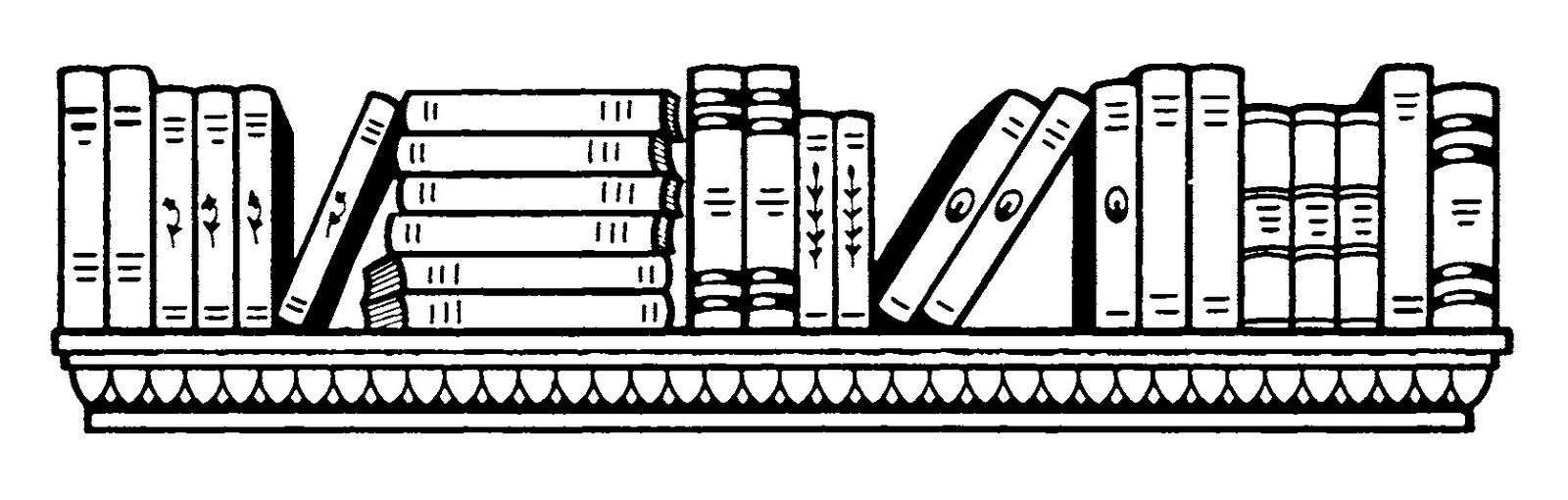 Black and white bookcase clipart svg library Bookcase clipart black and white 5 » Clipart Portal svg library