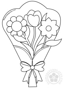 Bouquet of flowers clipart black and white jpg library stock Flower bouquet clip art black and white | Flowers Templates jpg library stock