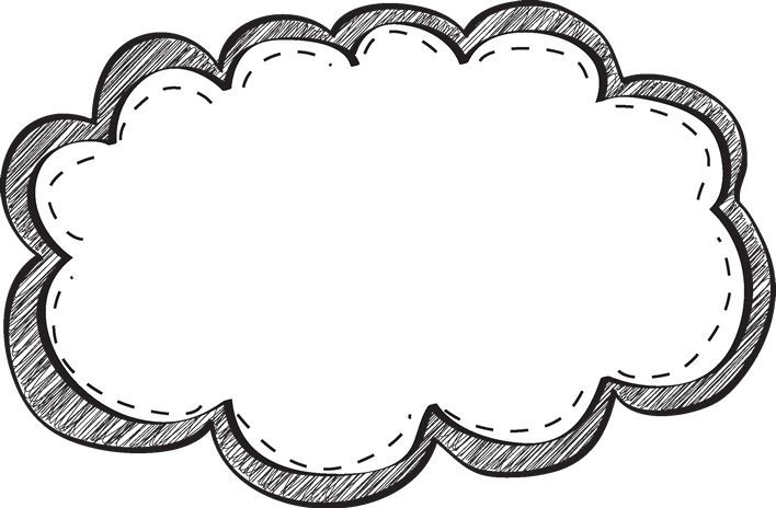 White and black label clipart