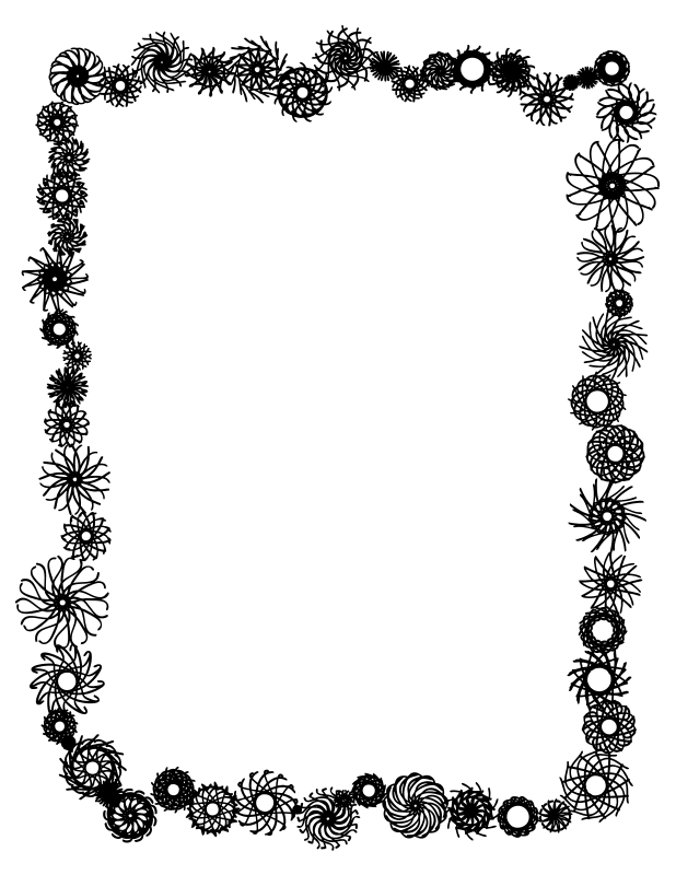 Free clipart black and white fall border png download Clipart Flower Border Black And White | Clipart Panda - Free ... png download