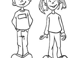 Clipart black and white boy and girl 3 » Clipart Portal banner library