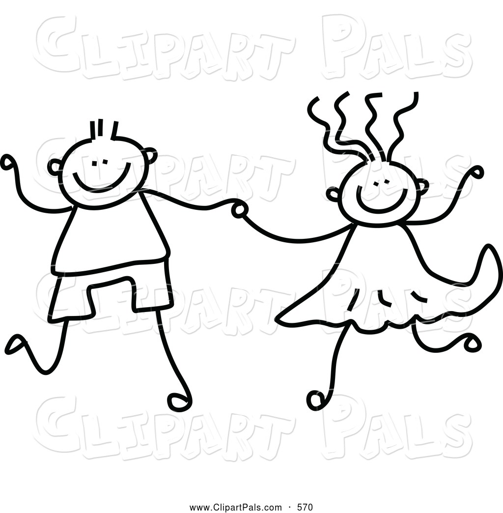 Clipart black and white boy and girl 7 » Clipart Portal clip transparent download