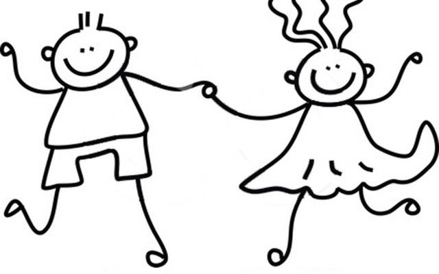 of-a-childs-sketch-of-a-black-and-white-boy-and-girl-holding-hands ... graphic transparent download