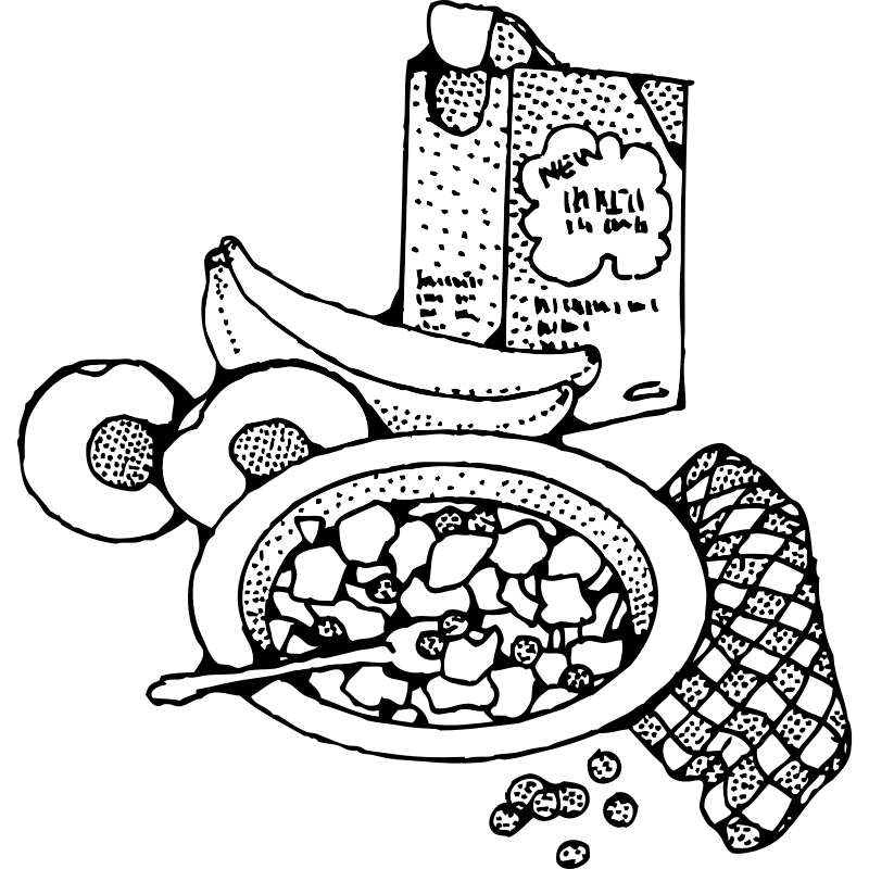 Eat breakfast clipart black and white graphic black and white stock Free Eat Breakfast Clipart Black And White, Download Free Clip Art ... graphic black and white stock