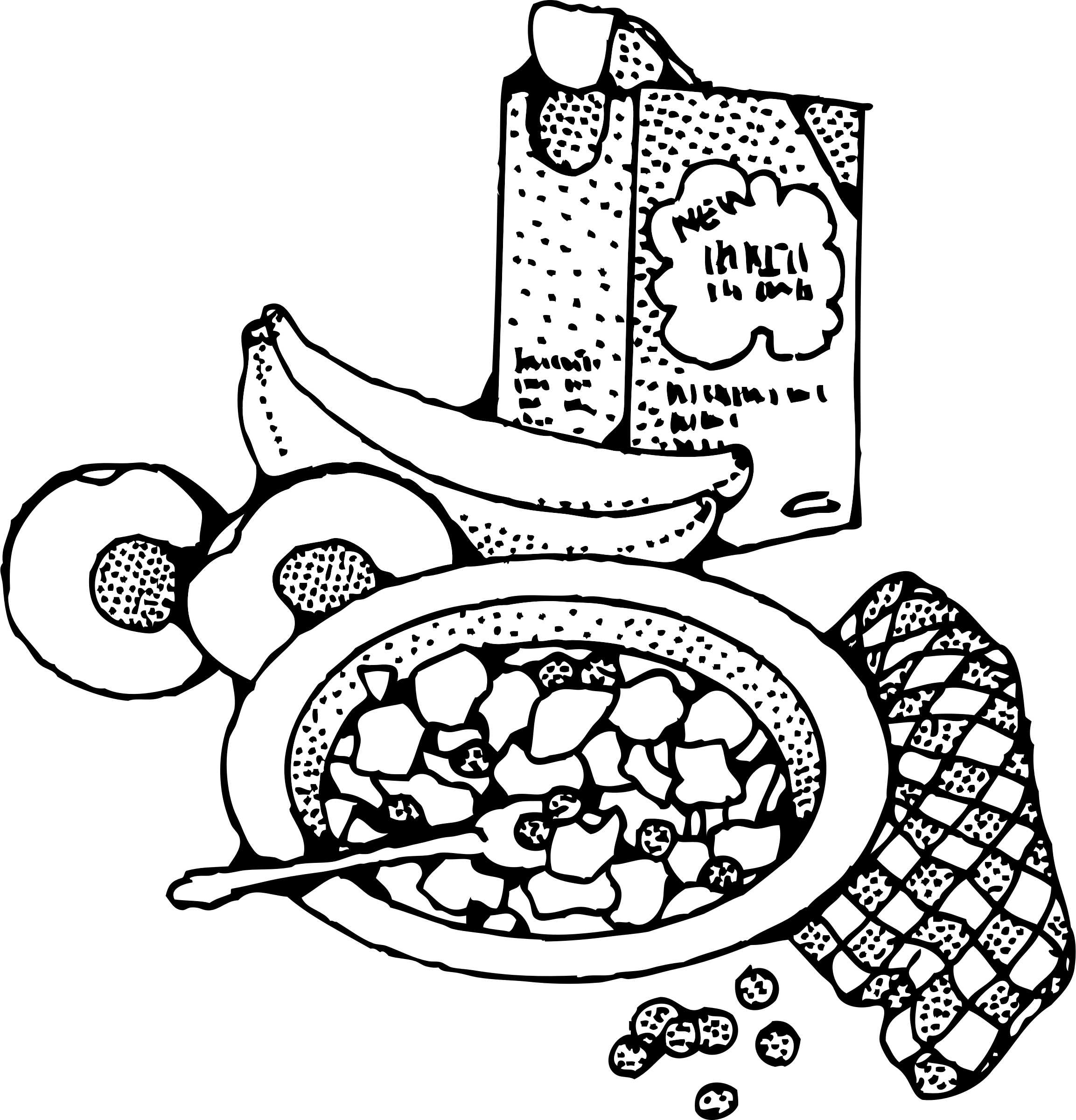 Library of black and white breakfast clip transparent ...