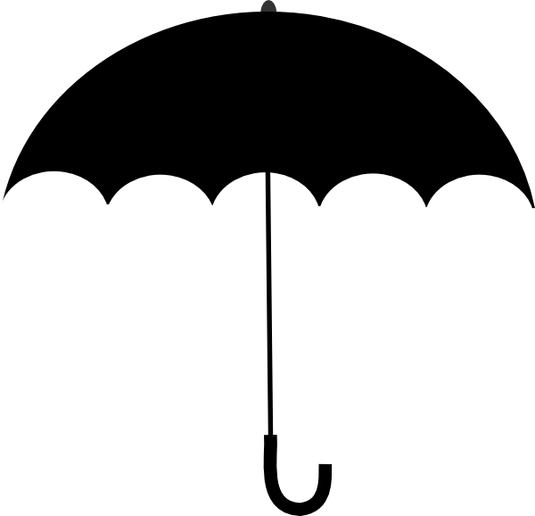 Black and white bridal shower umbrella clipart clip art transparent library Black White Umbrella Clip Art at Clker.com - vector clip art online ... clip art transparent library