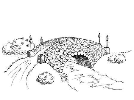 Bridge clipart black and white 2 » Clipart Portal png free download