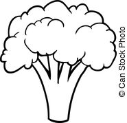 Black and white broccoli clipart clipart freeuse library Broccoli Clipart Black And White (101+ images in Collection) Page 2 clipart freeuse library